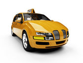 Future concept of taxi car isolated view — Stock Photo