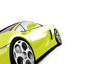 Isolated closeup sportcar view — Stock Photo