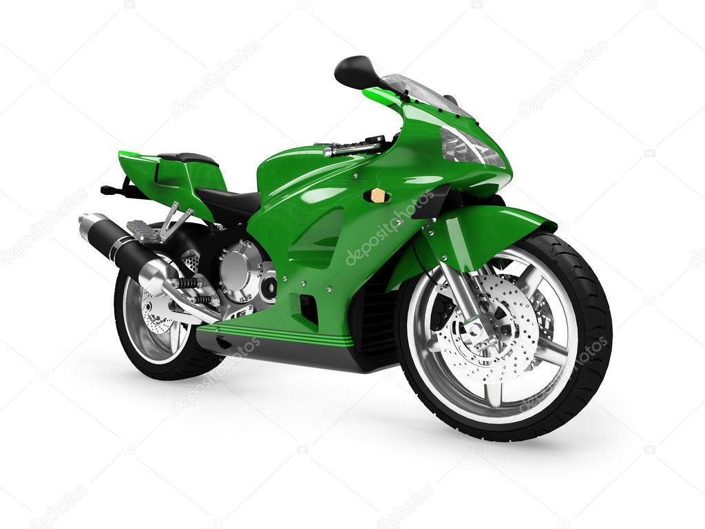 Isolated motorcycle on a white background — Stock Photo #1152348