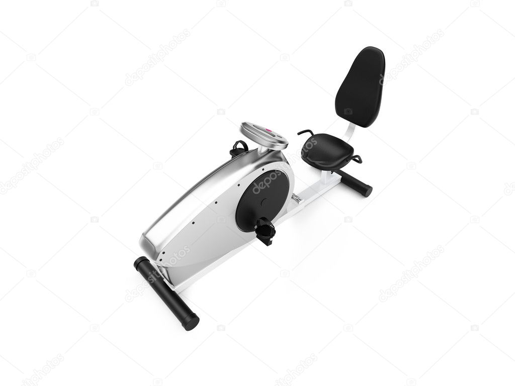 Isolated exercise bicycle on a white background   #1152407