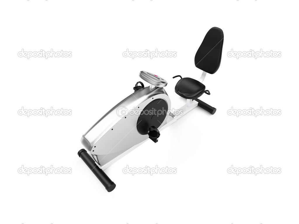 Isolated exercise bicycle on a white background  Foto Stock #1152407