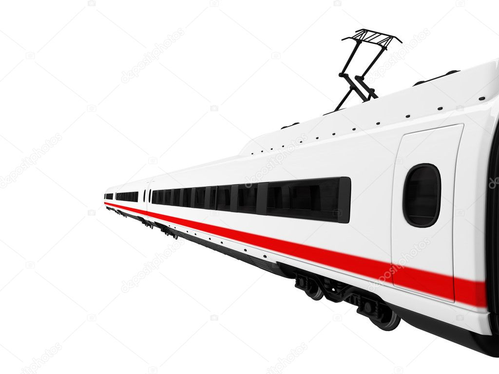 Isolated white train on white background — Stock Photo #1152606