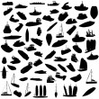 Silhouette of boats - Stock Photo