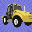 Stock Photo: Vector fork truck