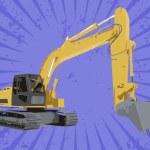 Vector construction truck — Stock Photo