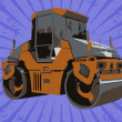 Vector construction truck — Stock Photo