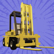 Royalty-Free Stock Photo: Vector fork truck