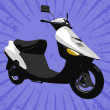 Vector motorcycle — Stockfoto