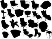 Silhouette of armchairs — Stock Photo