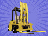 Vector fork truck — Stock Photo