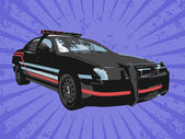 Vector police car — Stock Photo