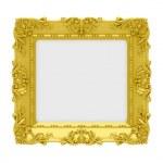 Golden frame over white — Stock Photo #2524496