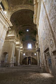 Indoor shot of a church in ruins — Stock Photo
