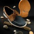 Male leather shoes — ストック写真