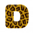 Letter from tiger style fur alphabet — Stock Photo