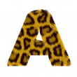 Letter from tiger style fur alphabet — Stock Photo #1468687
