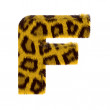 Letter from tiger style fur alphabet — Stock Photo #1468747