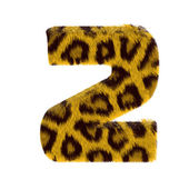 Numeral from tiger style fur alphabet — Stock Photo