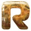 Gold letters with clipping path — Stock Photo
