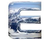 Chrome cast alphabet set, isolated on wh — Stock Photo