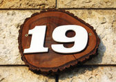 Number 19 on wall — Stock Photo