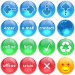 Blue, green and red buttons collection s — Stock Photo #1207669