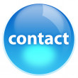 Blue button contact — Stock Photo