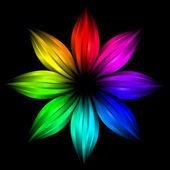 Abstrakte futuristisch regenbogen blume — Stockfoto