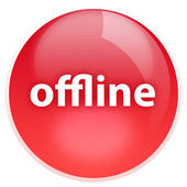 Offline button — Stock Photo