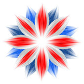 Flower with british flag colors on white — Stock Photo