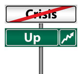 Road Sign The end of crisis, isolated — Stock Photo
