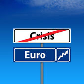 Road Sign The end of crisis — Stock Photo