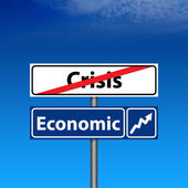The end of crisis, economic recovery — Stock Photo