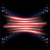 Stars and Stripes american flag — Stock Photo