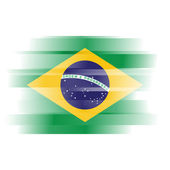 Abstract Brazillian Flag on white — Stock Photo