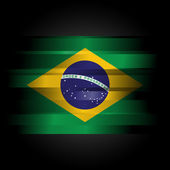 Abstract Brazillian Flag on black — Stock Photo