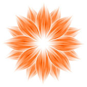 Abstract orange flower on white — Stock Photo