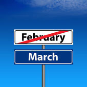 The end of february, march is started — Stock Photo