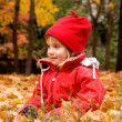Autumn portrait of a little girl — Stock fotografie #1107059
