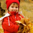 Autumn portrait of a little girl — Stock Photo #1107088