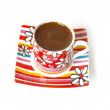 Bright cup of black coffee — Foto Stock
