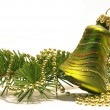 Christmas tree and bell — Stock Photo
