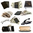 Collection of business objects - Stock Photo