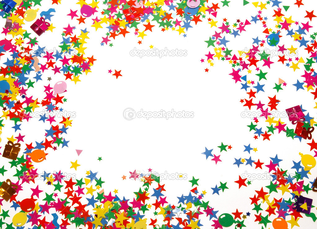 Colored confetti isolated on a white background  — Stock Photo #1109903