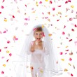 Stock Photo: Ctue little girl in a veil