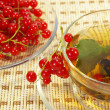 Royalty-Free Stock Photo: Currant and tea in a transparent cup