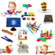 Group of education theme objects — Stock Photo #1111356