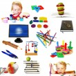 Royalty-Free Stock Photo: Group of education theme objects