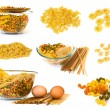Raw noodles collection - Stock Photo
