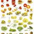 Vegetables and fruits collection - Stock Photo